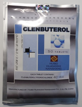 Clenbuterolo Hubei 40mcg (50 com)