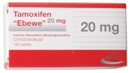 Tamoxifene citrato Ebewe 20 mg (100 com)